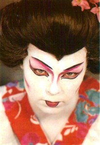 "Geisha makeup is needed from time to time in some shows, especially for productions of ""Mikado"". This simplified Geisha makeup is very effective."